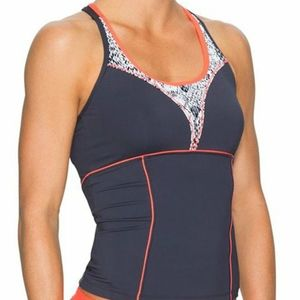 Athleta | Torpedo Tankini Top Asphalt Grey